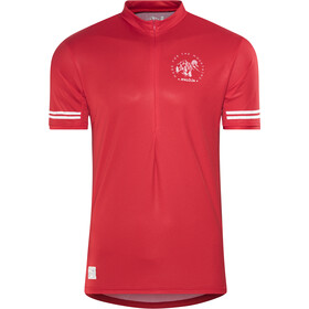 Maloja DomenicaM. All Mountain Maillot de cyclisme à manches courtes Homme, red poppy
